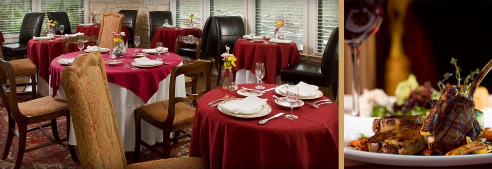 Fine dining at our Hill Country bed and breakfast