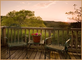 porch at sunset