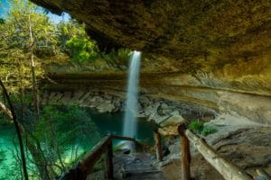 View of Hamilton Pool in Texas
