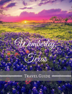 graphic for wimberley travel guide