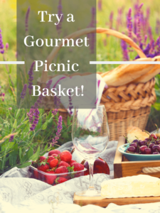 graphic promoting picnic baskets